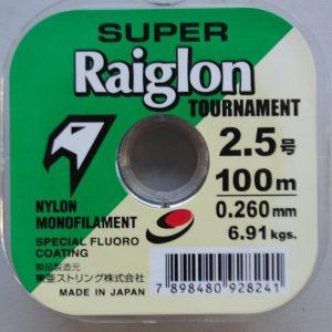 Linha Monofilamento Super Raiglon 2.5 – 0.260mm – 100m