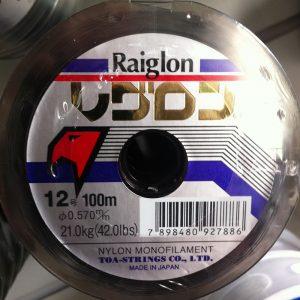 Linha Raiglon Cinza Nylon Monofilamento 0.570
